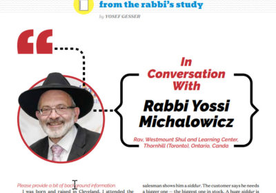 Hamodia article Westmount Orthodox Synagogue Thornhill Michalowicz