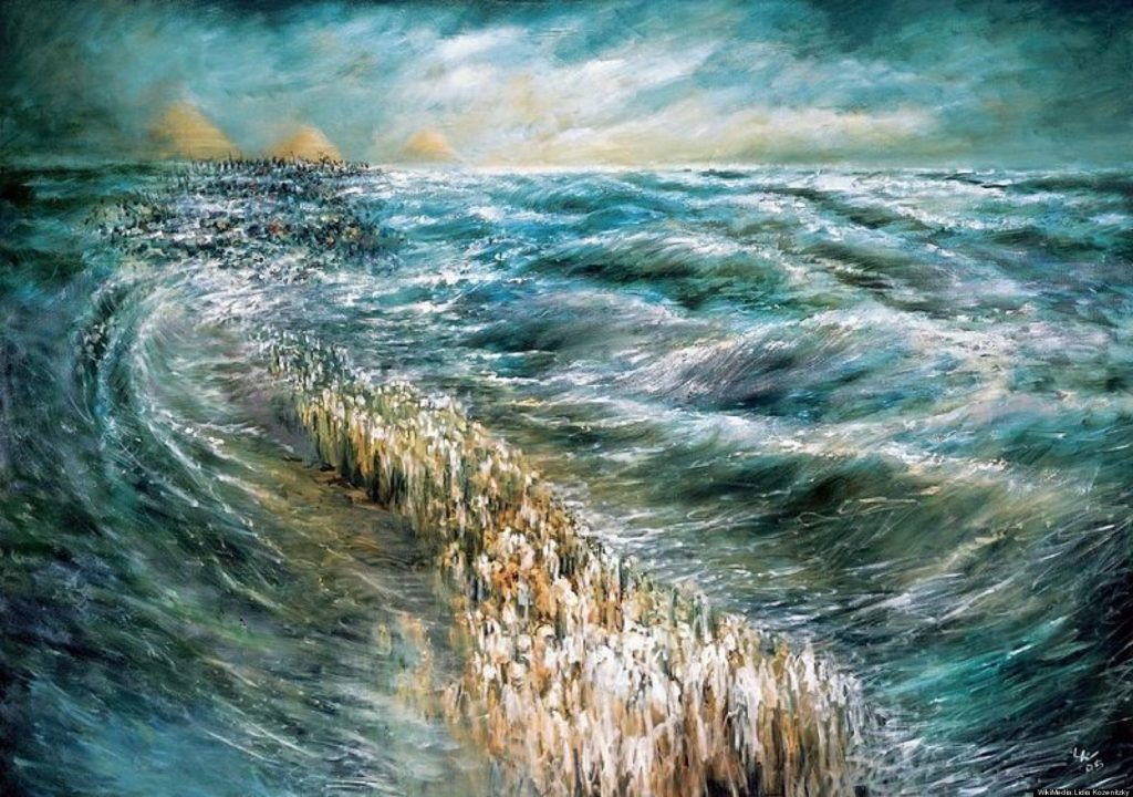 Kriat Yam Soof spliting sea painting