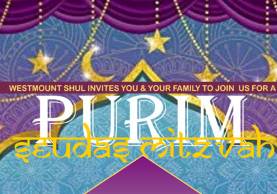 Purim Seudah for Jewish Orthodox Families Synagogue Thornhill