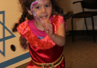 dancing princess costume at Purim Kids partyin thornhill