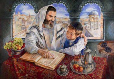 jewish father teaching torah son thornhill