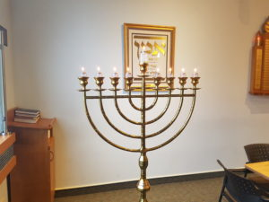 tall Menorah at Westmount orthodox synagogue thornhill