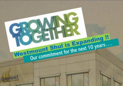 westmount shul is expanding